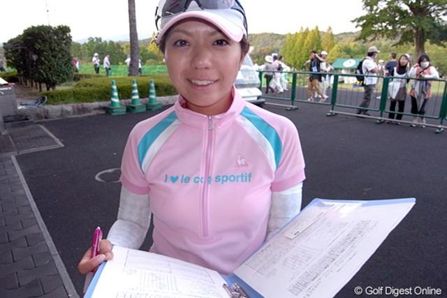 2009年 日本女子プロゴルフ選手権大会コニカミノルタ杯初日 中村香織 2オーバーの21位タイという上々の滑り出しを見せた中村香織