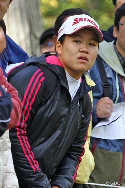 次週にプロデビュー戦を控える畑岡奈紗がギャラリーとして観戦。真剣な眼差しで注目組を追い続けた