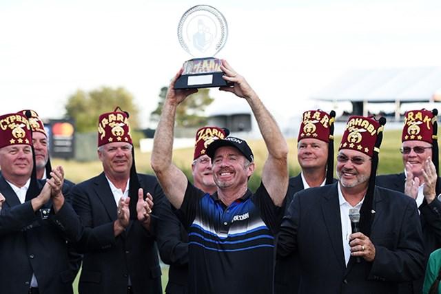 10年7カ月ぶりに優勝したロドニー・パンプリング(Steve Dykes/Getty Images)