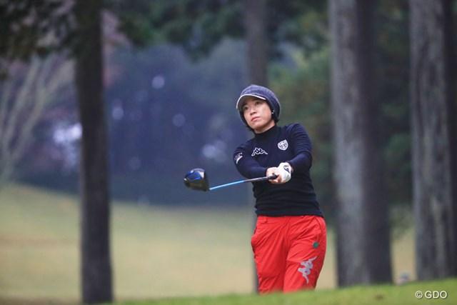2016年 伊藤園レディスゴルフトーナメント 初日 大山志保 ショットでチャンスメークにつなげた大山志保が暫定首位に立った