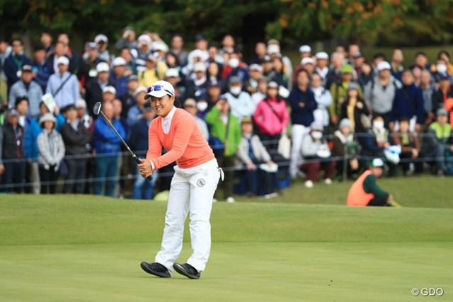 2016年 伊藤園レディスゴルフトーナメント 2日目 畑岡奈紗 国内プロデビュー戦を20位で予選通過した畑岡奈紗