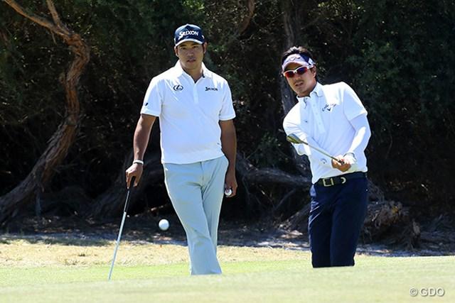 日本代表の松山英樹と石川遼は大会前週からコースで練習を行っている