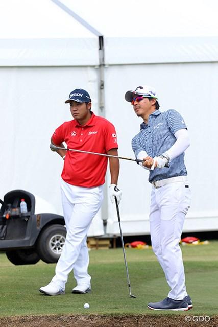 2017年 ISPSハンダ ゴルフワールドカップ 事前 松山英樹、石川遼 今週は二人で一組のチーム戦。チームワークが勝敗のカギになる場面が出てきそうだ