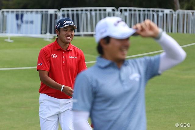 2017年 ISPSハンダ ゴルフワールドカップ 事前 松山英樹、石川遼 二人が揃うといつもの試合では見られない笑顔が出てきます