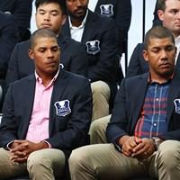右のジョナサン・ベガスはPGAツアー2勝で世界ランクは74位。左の弟フリオはプロゴルファーだが、世界ランクは1872位 2017年 ISPSハンダ ゴルフワールドカップ 事前(火曜) チームベネズエラ