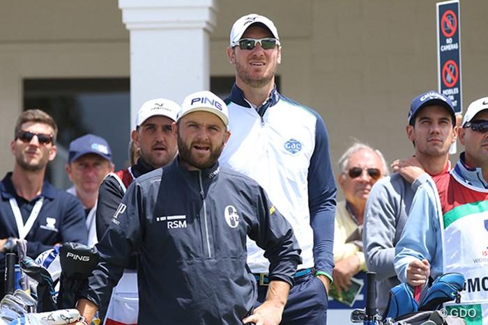 長身のクリス・ウッドとアンディー・サリバンの凸凹コンビ 2017年 ISPSハンダ ゴルフワールドカップ 初日 イングランドチーム