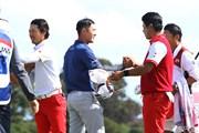 2017年 ISPSハンダ ゴルフワールドカップ 初日 石川遼 松山英樹