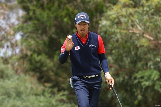 2016年 ISPSハンダ ゴルフワールドカップ 2日目 石川遼 日本チームこの日6つ目となる14番でバーディを取った石川遼