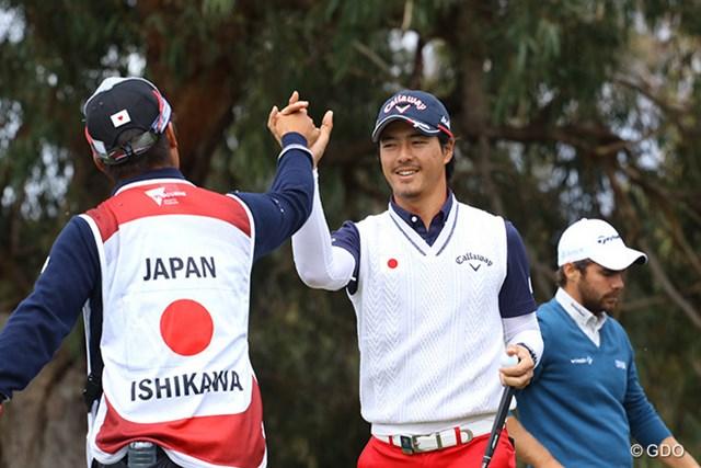 13、14番連続バーディで勢いがついてきた松山&石川の日本代表