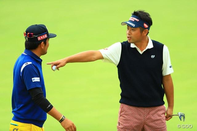 2016年 カシオワールドオープンゴルフトーナメント 3日目 池田勇太 正岡竜二 池田先輩と正岡後輩の図、その1。
