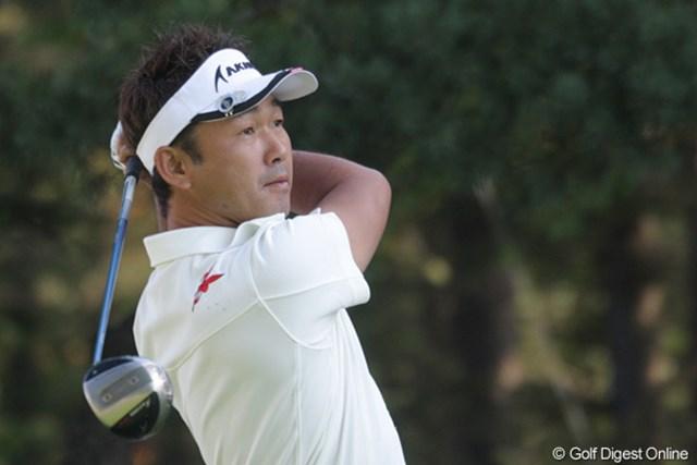 久保谷健一 淡々とプレーし首位タイとなった久保谷健一「やっぱりラッキーなゴルフです」