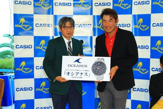2016年 カシオワールドオープンゴルフトーナメント 最終日 チャン・キム ドラコン賞はカシオの時計です。イイなぁ。