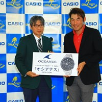 ドラコン賞はカシオの時計です。イイなぁ。 2016年 カシオワールドオープンゴルフトーナメント 最終日 チャン・キム