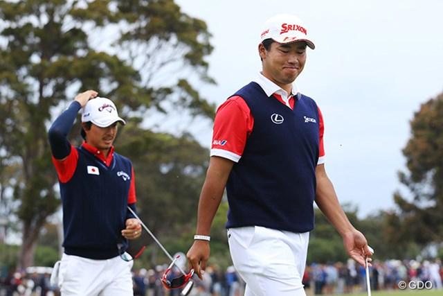 2017年 ISPSハンダ ゴルフワールドカップ 最終日 石川遼 松山英樹 最終日もスコアを伸ばしたが及ばず。石川と松山は6位の結果に悔しさだけをにじませた