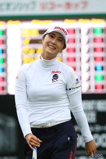 2016年 LPGAツアー選手権リコーカップ 最終日 キム・ハヌル おめでとう!最高の顔だね
