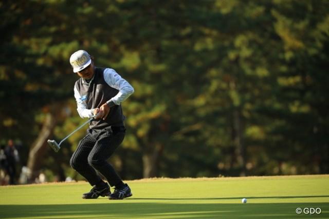 2016年 ゴルフ日本シリーズJTカップ 3日目 片山晋呉 リアクションないプロに比べ、リアクションあるプロは必然的に掲載したくなる。