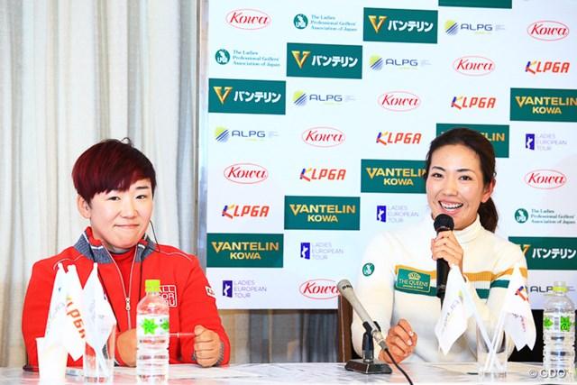 ペアリング発表会見に臨んだ日本・韓国両チームキャプテン