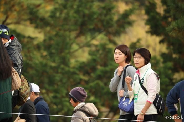 今日ももちろん来ていました。 2016年 ゴルフ日本シリーズJTカップ 最終日 古閑美保