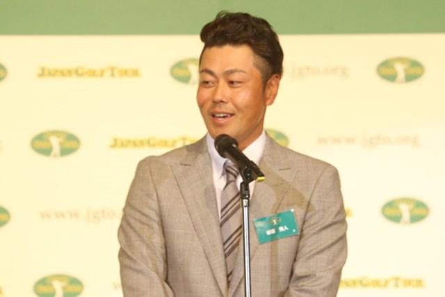 2016年 ジャパンゴルフツアー表彰式 谷原秀人 Unysisポイントランキング賞を受賞した谷原秀人
