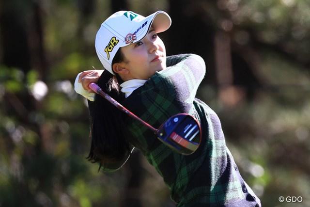 新人賞に輝いた堀琴音。来季こそ初優勝を手にしたい ※2016年「LPGAツアー選手権リコーカップ」撮影