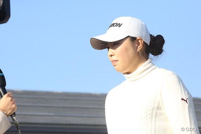 2016年 LPGA新人戦 加賀電子カップ 最終日 高橋恵 嬉しいプロ初優勝を挙げた高橋恵。来季に高い期待が寄せられる