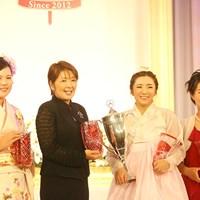 受賞した4選手。イ・ボミは最多の5冠となった ささきしょうこ 福嶋浩子 イ・ボミ 畑岡奈紗