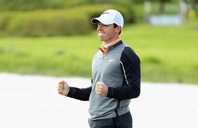 優勝したアイルランドオープンでの1打が年間ベストショットに選ばれた(Andrew Redington/Getty Images)