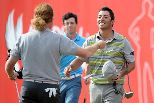 2017年 アブダビHSBCゴルフ選手権 事前  パブロ・ララサバル 14年大会でM.A.ヒメネス、R.マキロイら強豪を破り、優勝したP.ララサバル(Ross Kinnaird/Getty Images)