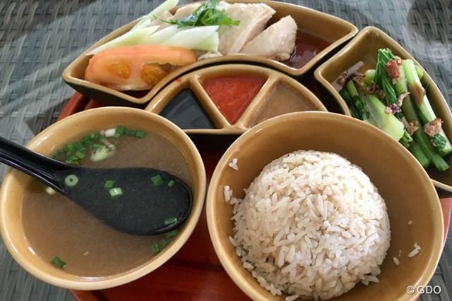 2017年 SMBCシンガポールオープン 事前 川村昌弘 セントーサGCで食べたチキンライスです