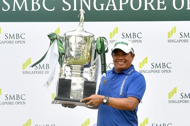 2017年 SMBCシンガポールオープン 最終日 プラヤド・マークセン 50歳のプラヤド・マークセンが日本ツアー2017年開幕戦を制した※アジアンツアー提供