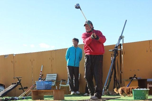 昨年12月から球打ちを実施。国内開幕戦に向けて調整する尾崎将司