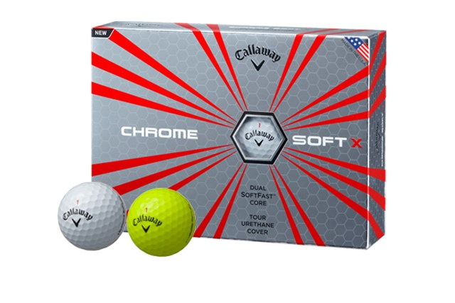 スイングスピードの速い中・上級者を想定してデザインされた「クロムソフト Xボール」