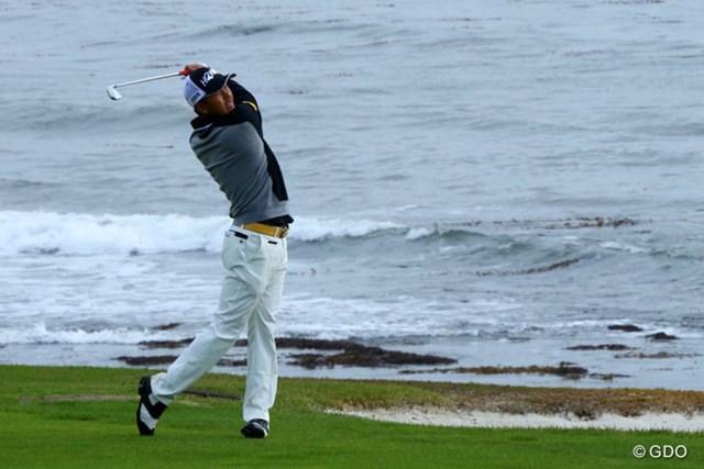 岩田寛は第2ラウンドでペブルビーチGLをプレーした