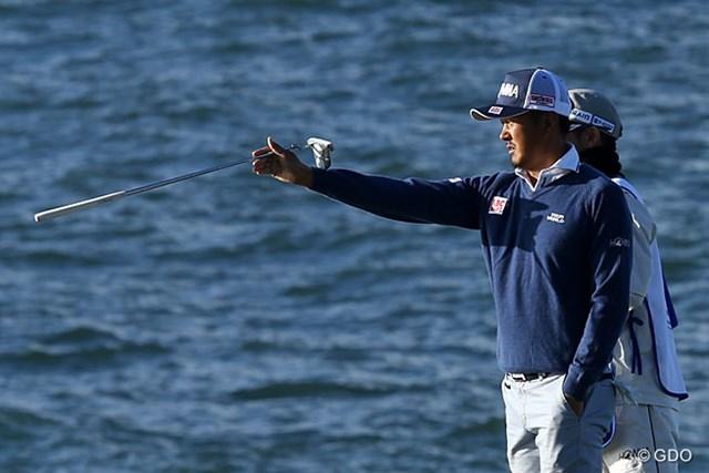 1日で24ホールをプレーした岩田寛だったが、決勝進出はならなかった