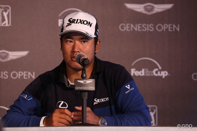 米ツアー会場で行われた公式会見で東京五輪会場問題に言及した松山英樹