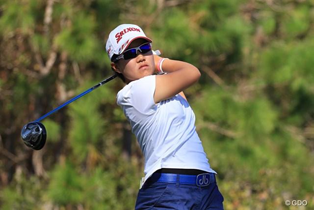畑岡奈紗は9ランクアップの世界128位に※画像は17年「ISPSハンダ オーストラリア女子オープン」2日目