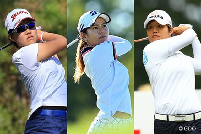(写真左から)畑岡奈紗、宮里藍、野村敏京の3人が出場する