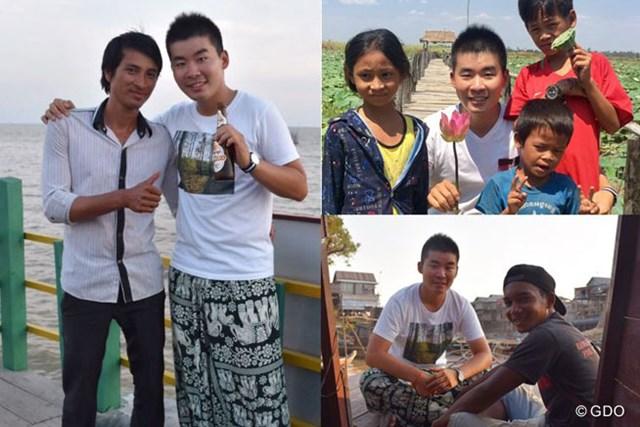 オフにした前週はカンボジアでの旅。トゥクトゥクの運転手さん、サリーさん(左)にお世話になりました