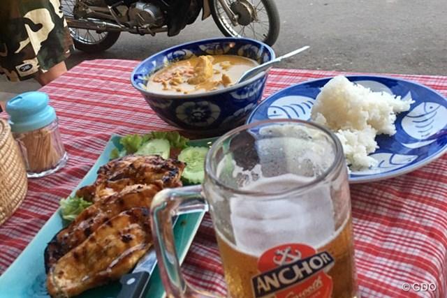 屋台で食べたカンボジアでのディナー