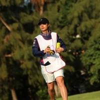 なかなか立派は脚をお持ち。さすがプロ。 2017年 ダイキンオーキッドレディスゴルフトーナメント 最終日 下村真由美