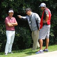 日本人ルール委員もメキシコで活躍。池田のルーリングは日本語で行った 2017年 WGCメキシコ選手権 最終日 競技委員