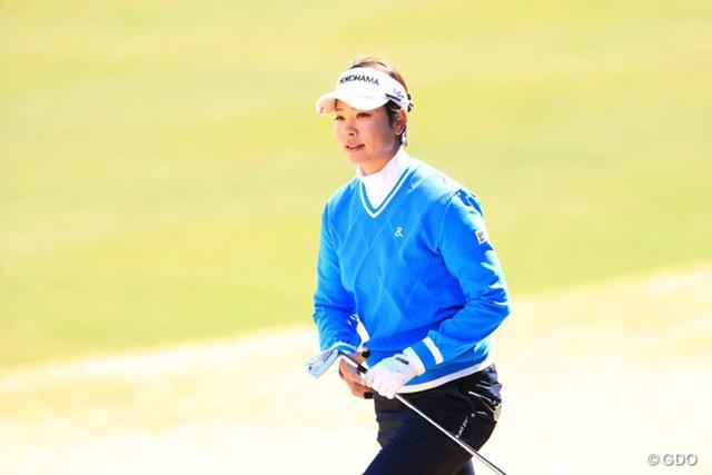 2017年 ヨコハマタイヤゴルフトーナメント PRGRレディスカップ 2日目 森田理香子 ブルーのウェアも似合ってるよ
