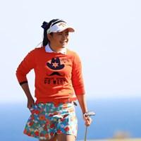 強風だってミニスカート履いちゃうもん 2017年 ヨコハマタイヤゴルフトーナメント PRGRレディスカップ 2日目 河本結