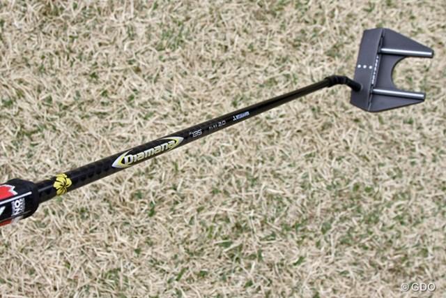 2017年 Tポイントレディス ゴルフトーナメント 事前 ディアマナ パター P135 三菱レイヨンが4月に発売予定のパター専用カーボンシャフト
