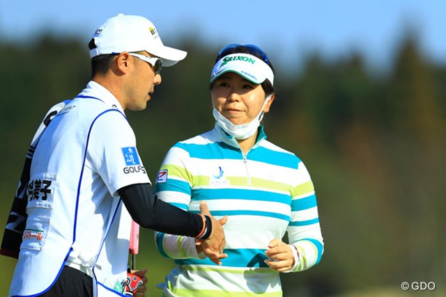 2017年 Tポイントレディス ゴルフトーナメント 初日 吉田弓美子 昨季終盤に長期離脱を強いられた吉田弓美子。今季3試合目でようやくアンダーパーを記録した