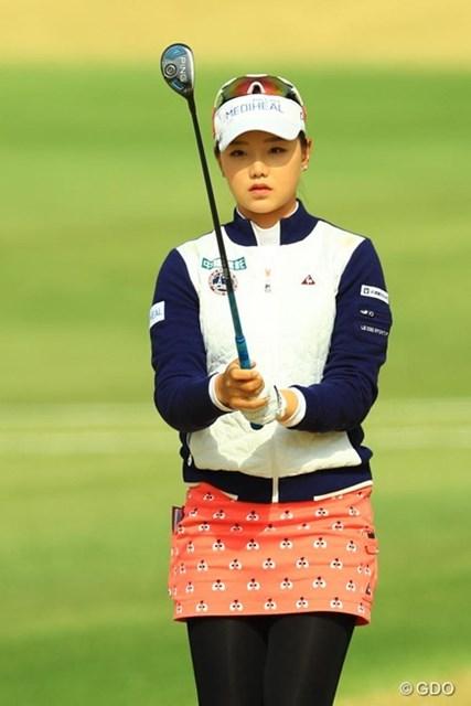 2017年 Tポイントレディス ゴルフトーナメント 最終日 セキ・ユウティン 今季から日本ツアーで戦うセキ・ユウティン。整ったルックスに早くも固定ファンが付き始めているとか