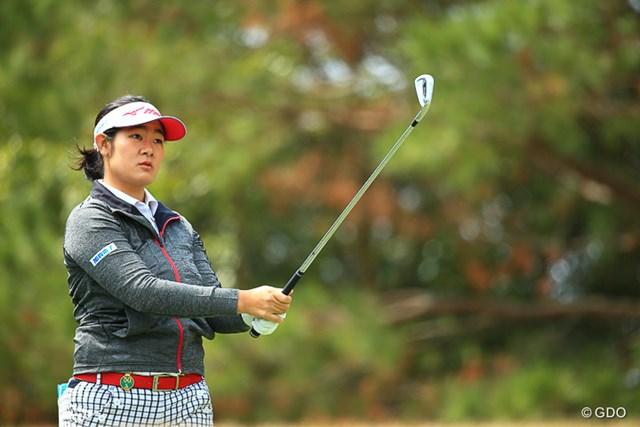 2017年 アクサレディスゴルフトーナメント in MIYAZAKI 初日 山岸史果 初戦からいい試合をしてきているが今週も2アンダーといいスタート