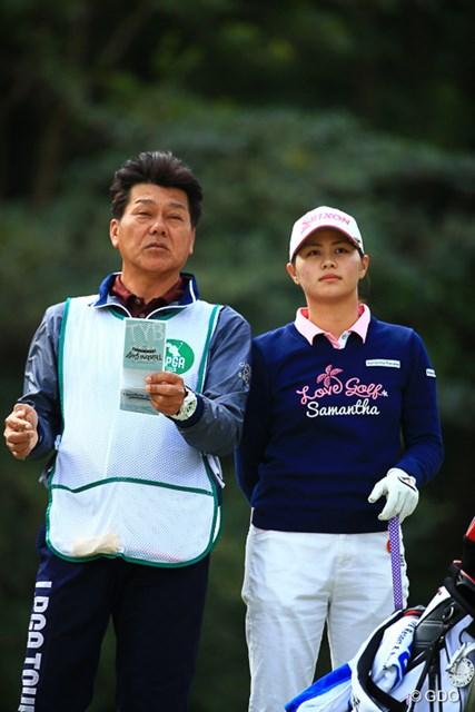2017年 アクサレディスゴルフトーナメント in MIYAZAKI 初日 新垣比菜 この子もすっかり常連選手。今週のローアマ争いはレベルが高い