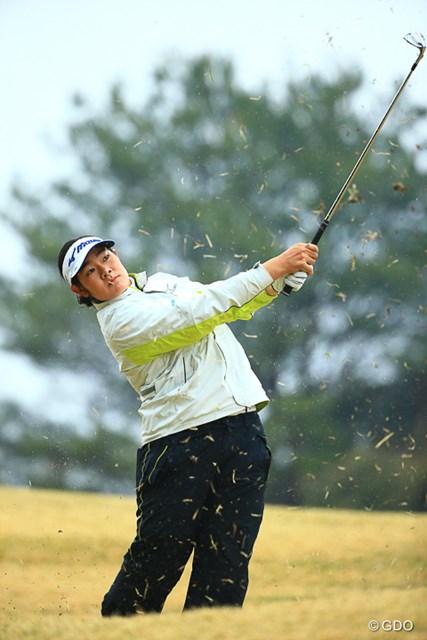 2017年 アクサレディスゴルフトーナメント in MIYAZAKI 2日目 川岸史果 川岸史果はキレのあるアイアンショットで今季2度目の最終日最終組に入った