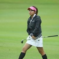雨が降っても元気にミニスカです。 2009年 日本女子オープン 2日目 新井麻衣
